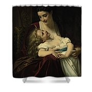 Maternal Affection Shower Curtain