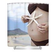 Maternity At Beach Shower Curtain