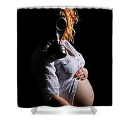 Maternity Gas Mask Shower Curtain