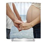 Maternity Love Shower Curtain