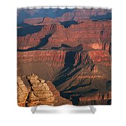 Mather Point At Sunrise On The Grand Canyon Shower Curtain