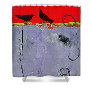 Mating Caw Shower Curtain