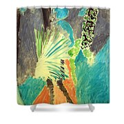Matisse's Palm Leaf In Tangier Shower Curtain