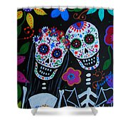 Matrimonio Dia De Los Muertos Shower Curtain