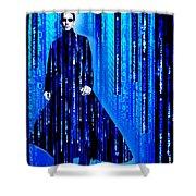 Matrix Neo Keanu Reeves 2 Shower Curtain