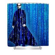Matrix Neo Keanu Reeves Shower Curtain by Tony Rubino