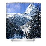 Matterhorn  Shower Curtain by Brian Jannsen
