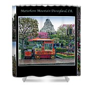 Matterhorn Mountain Disneyland Collage Shower Curtain