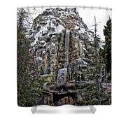 Matterhorn Mountain With Bobsleds At Disneyland Shower Curtain