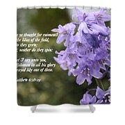 Matthew 6 Verses 28 And 29 Shower Curtain