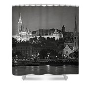 Matthias Church Night Bw Shower Curtain