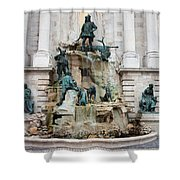 Matthias Fountain In Budapest Shower Curtain