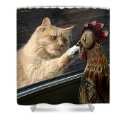 Matty And Rooster #1 Shower Curtain