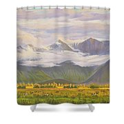Matukituki Valley Shower Curtain