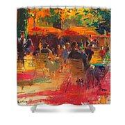 Maturing Sun, Paris Oil On Canvas Shower Curtain