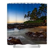 Maui Cove - Beautiful And Secluded Secret Beach. Shower Curtain