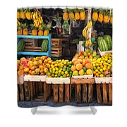 Maui Fruits And Vegetables Shower Curtain