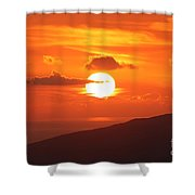 Maui Kulamalu Sunset 3 Shower Curtain