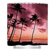 Maui Silhouette Sunset Shower Curtain