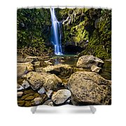 Maui Waterfall Shower Curtain by Adam Romanowicz