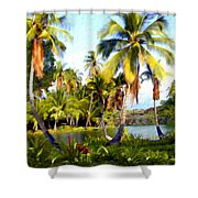 Mauna Lani Fish Ponds Shower Curtain