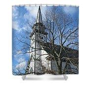 Mauricetown Church  Shower Curtain