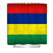 Mauritius Flag Vintage Distressed Finish Shower Curtain