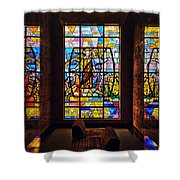 Mausoleum Stained Glass 01 Shower Curtain