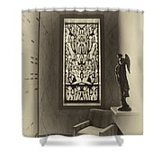 Mausoleum Stained Glass 02 Shower Curtain