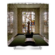 Mausoleum Stained Glass 04 Shower Curtain