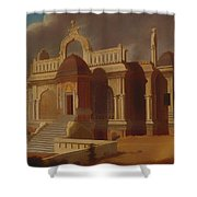 Mausoleum With Stone Elephants Shower Curtain