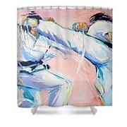 Mawashi Geri Shower Curtain