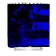 Max Americana In Blue Shower Curtain