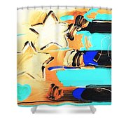 Max Americana In Inverted Colors Shower Curtain