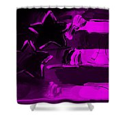 Max Americana In Purple Shower Curtain