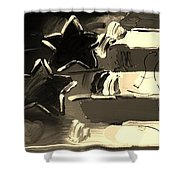 Max Americana In Sepia Shower Curtain