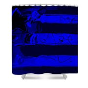 Max Stars And Stripes In Blue Shower Curtain