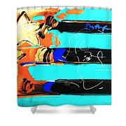 Max Stars And Stripes In Inverted Colors Shower Curtain