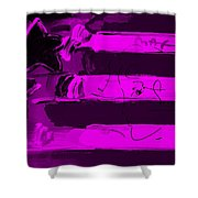 Max Stars And Stripes In Purple Shower Curtain