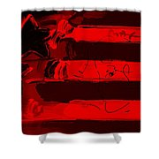 Max Stars And Stripes In Red Shower Curtain