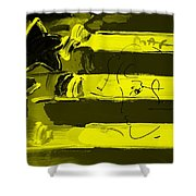 Max Stars And Stripes In Yellow Shower Curtain