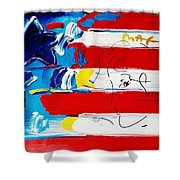 Max Stars And Stripes Shower Curtain
