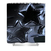 Max Two Stars In Cyan Shower Curtain