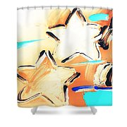 Max Two Stars In Inverted Colors Shower Curtain