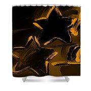 Max Two Stars In Orange Shower Curtain