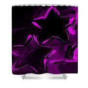Max Two Stars In Purple Shower Curtain