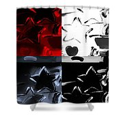 Max Two Stars In Quad Colors Shower Curtain