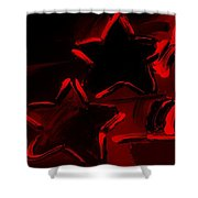 Max Two Stars In Red Shower Curtain