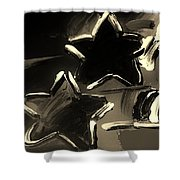 Max Two Stars In Sepia Shower Curtain