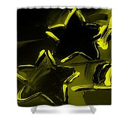 Max Two Stars In Yellow Shower Curtain